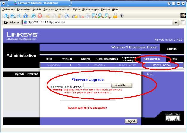 Linksys WRT54GL – wiki freifunk net